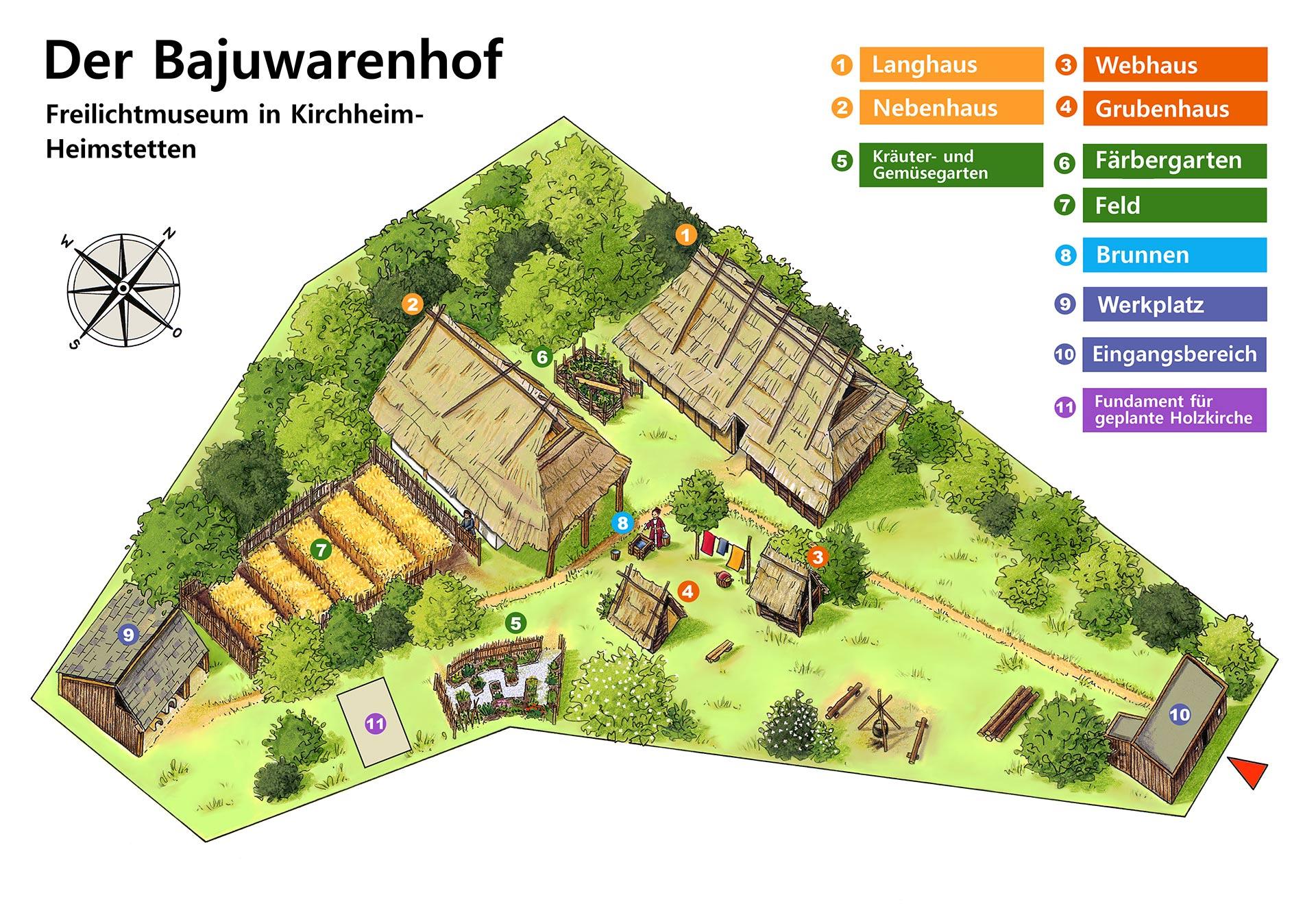 Geländeplan des Bajuwarenhofs